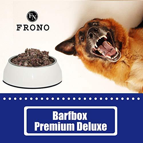 Frostfutter Nordloh Barf-Paket, 20 kg Premium Box, komplette Barffleisch Fertigmenüs für Hunde
