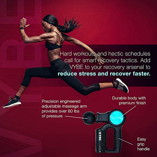 Vybe X Percussion Massage Gun for Athletes - Head, Back, Neck, Shoulders, Leg Pain Relief - Deep Tissue, Hand Held Body Massager, Cordless