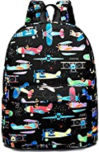 CAMTOP Preschool Backpack for Kids Boys Toddler Backpack Kindergarten School Bookbags (Plane-Black)