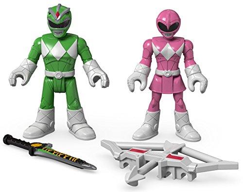 Fisher-Price Imaginext Power Rangers Green Ranger & Pink Ranger
