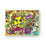 WuChao丶Store Ácido psicodélico LSD Lienzo Arte impresión Pintura póster Cuadros de Pared para la decoración de la Sala de Estar decoración del hogar 50x70 cm W-1277