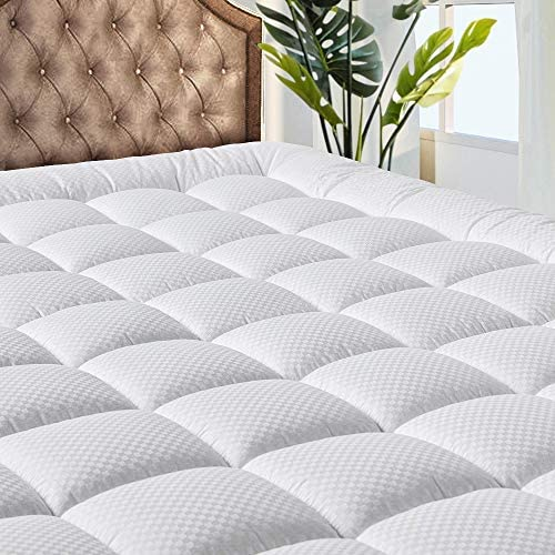 MATBEBY Bedding Quilted Fitted Queen Mattress Pad Cooling Breathable Fluffy Soft Mattress Pad product image
