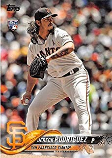 Dereck Rodriguez baseball card rookie 2018 Topps #US270 (San Francisco Giants)