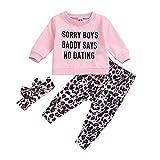 Afocuz T-shirt à manches longues pour nouveau-né et fille avec motif léopard - - 24 mois