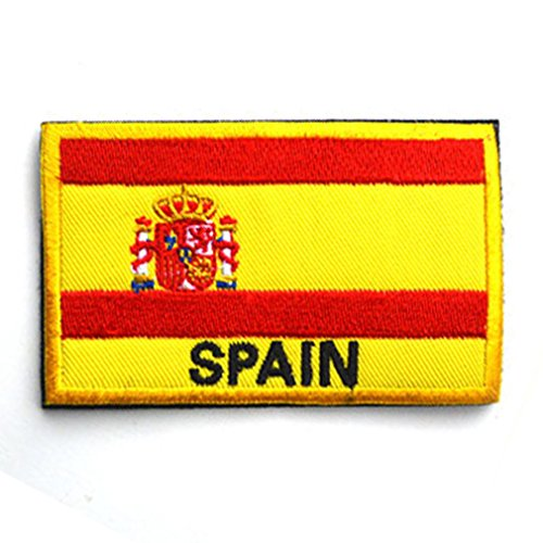 Spain Flag Patch Embroidered Military Tactical Flag Patches