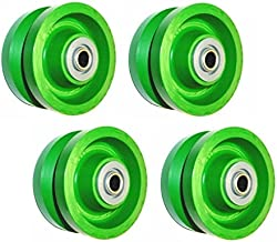 (Set of 4) Solid Green Wet Area Poly 4