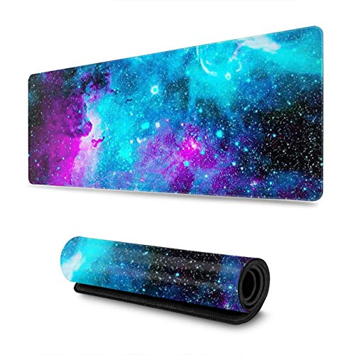 Galaxy Large Mouse Pad Gaming XXL Extended Desk Keyboard Mat Long Mousepad for Work Game Office Home 31.5x11.8 in