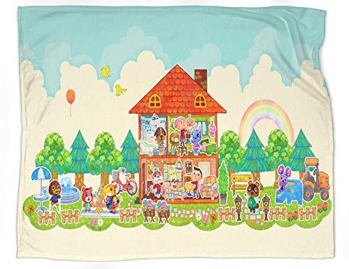 Manta decorativa extra suave con diseño de animales cruzando nuevos horizontes para el sofá de la cama, manta ligera, tamaño 177,8 x 127 cm