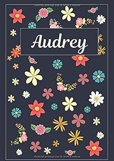 Audrey: Journal   Agenda   Carnet de Notes   120 pages   A4   Blanc   Idée Cadeau