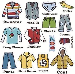 Gwill Boy calcomanías para aparador ropa de vestir etiquetas de aparador etiquetas para niños cajones ropa clasificad...