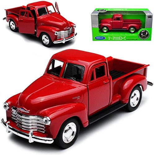 Welly Chevrolet Chevy 3100 Pick-Up Rot 1953 ca 1/43 1/36-1/46 Modell Auto mit individiuellem Wunschkennzeichen
