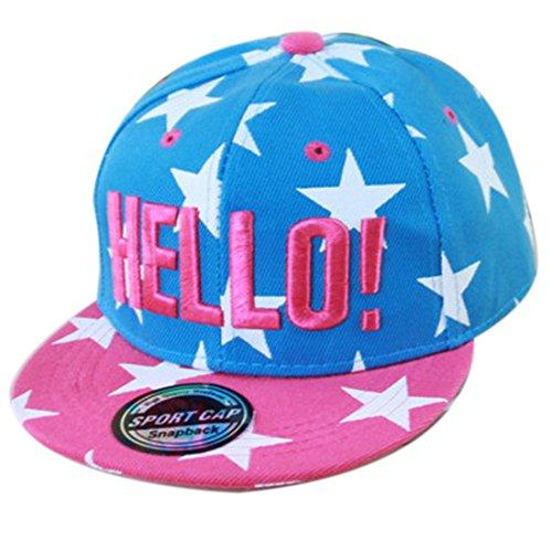 Thenice Kind Hip-Hop Cap Baseball Kappe Hut (Star azurblau)