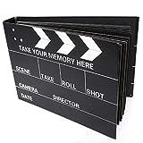 PuTwo - Album para fotos, Libro de recortes rellenable con 80 páginas, Libro de recuerdos Álbum de bodas, 2 Plantillas de dibujo y esquinas para fotos