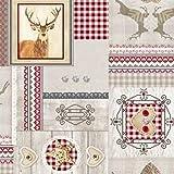 Mantel Hule Por Metro Navidad c144501 Grande SELECCIONABLE en Ovalado Rectangular Redondo - Más Colores, 140 x 240 cm eckig
