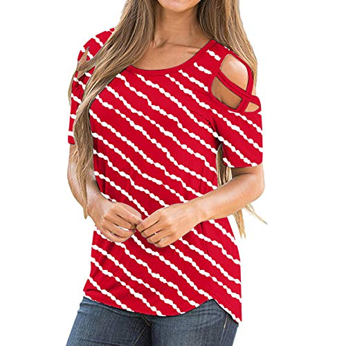 Womans Tops Short Sleeve Womens 4th of July Outfit Mindful Souls Boho Shirt Blouses for Baby Girl Gifts Tops Toys Workout Tank Tops for Women Tops and Blouses for Work Red XXL