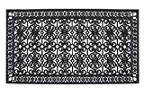 A1 Home Collections A1HCCL68 Doormat A1HC First Impression Rubber Paisley, Beautifully Hand Finished,Thick, 36X72, Black Estate 36' X 72'