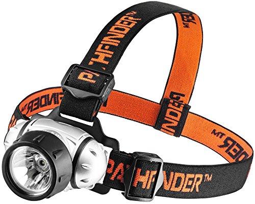 PATHFINDER XP-E Q4 CREE LED Phare Phare - Résistant à l'eau - 3 modes de fonctionnement, chef Safety Lamp, Garage Atelier Jardin de poche, tête de la torche pour le vélo, vélo, escalade, camping, randonnée, pêche, la lecture de nuit, équitation, Dog Walking et autres activités intérieures et extérieures - chef sangle réglable - 135 degrés angle de faisceau réglable - 100 000 heures de vie de LED (dans son emballage) - ARGENT