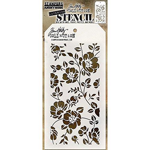 TH Floral Stencil