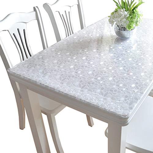 CIEEIN CIEHTTovaglie Tovaglia in PVC Vetro morbido Piatto di cristallo Copertura di protezione per mobili A 60 * 120cm