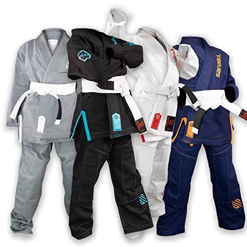 Sanabul Future Legend Kids Brazilian Jiu Jitsu BJJ Gi (Black/Blue, K2)
