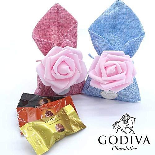 バレンタインチョコ 高級 大量 義理 おもしろい 小分け 業務用 バレンタインチョコレート (GODIVA バラ ピンク)
