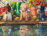 Madera Puzzles Rompecabezas de Actividades Familiares, Juego de Rompecabezas Puppy Dreams, Juguetes de Regalo, Rompecabezas de 300 Piezas para Adultos y niños, sin residuos de Rompecabezas
