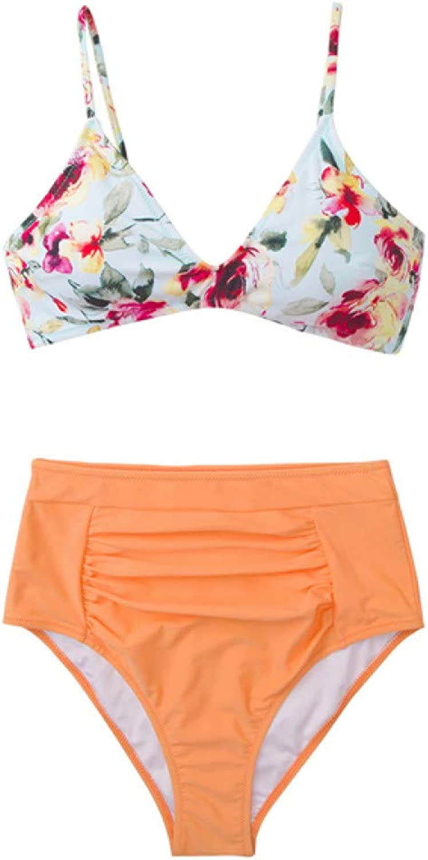 KMCC Bikinis High-Waisted Bikini Sets Women Boho Beach Bathing Suits Swimsuits