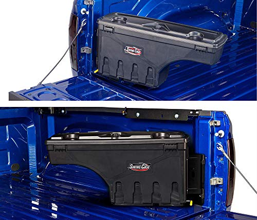 Undercover SwingCase Truck Bed Storage Box | SC100P | Fits 07-20 2007-& Chevrolet Silverado/GMC Sierra 1500-3500Passenger Side 1500-3500, Black
