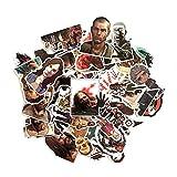 LVLUO Maleta, monopatín, portátil, Equipaje, Nevera, móvil, Forma de Coche, calcomanía DIY, Pegatina para The Walking Dead, 50 Uds.