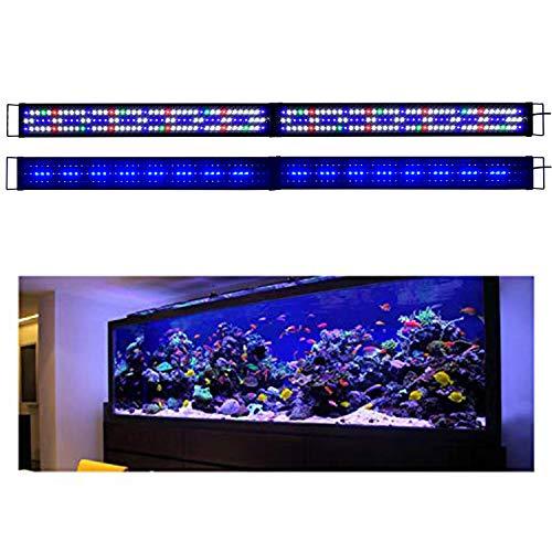 KZKR Upgraded Aquarium Light LED Full Spectrum 72 - 84 inch Hood Lamp for Freshwater Marine Plant 180 - 210 cm Multi-Color Decorations Fish Tank Light