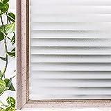 Película de Ventana Impermeable de PVC decoración del hogar de privacidad, sin Pegamento Pegatinas de Vidrio de Puerta y Ventana Decorativas estáticas 3D A 45x300cm