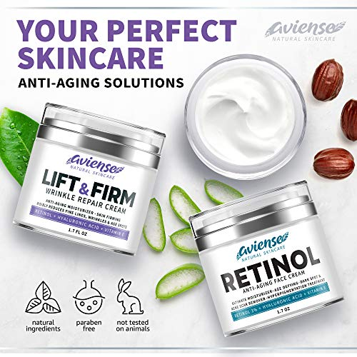 51+GsiHSsjL - Anti Wrinkle Cream for Face - Retinol & Collagen Anti Aging Cream - Made in USA - Fine Lines & Wrinkle Repair - Retinol Cream for Face with Hyaluronic Acid & Vitamin E - Face Moisturizer for Women & Men