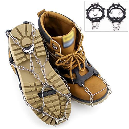 Aoutacc 10 Pinchos crampones de tracción de Hielo Tacos de Nieve para Mujer Hombre Botas de Seguridad Botas de protección Ligero Crampons, Caminar, Escalada, Correr montañismo en Hielo y Nieve