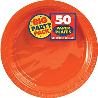 """Big Party Pack Orange Peel Paper Plates 