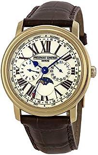 Frederique Constant Classics White Dial Leather Strap Men's Watch FC270EM4P5