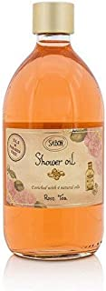 SABON Shower Oil, Delicate Rose tea, 17.59 Fl Oz
