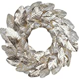 idyllic Champagne Magnolia Leaves Wreath 18 Inches Farmhouse Decoration Adjustable Vintage Front Door Wreath for Home Decor, Centerpiece