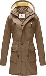 WenVen Women`s Winter Thickened Sherpa Lined Casual Cotton Jacket