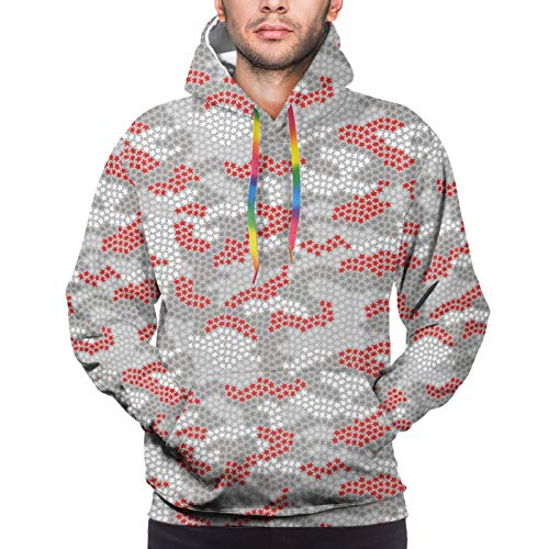 Men's Hoodies Sweatshirts,Stars in Many Colors Surreal Space Theme Pale Tone Universe Illustration,XXX-Large