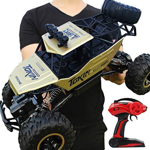 Haunen Ferngesteuertes Auto, 2,4 GHz 4WD Off-Road-Fahrzeug-LKW 1:12 Fernbedienung Monster Truck RC Auto Geländewagen für Kinder Erwachsene - 37×23×20cm