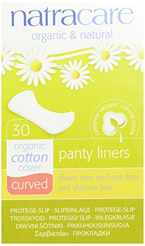 Natracare Natural Panty Liners, Curved, 30 Count Boxes (480 Liners) (Pack of 16)