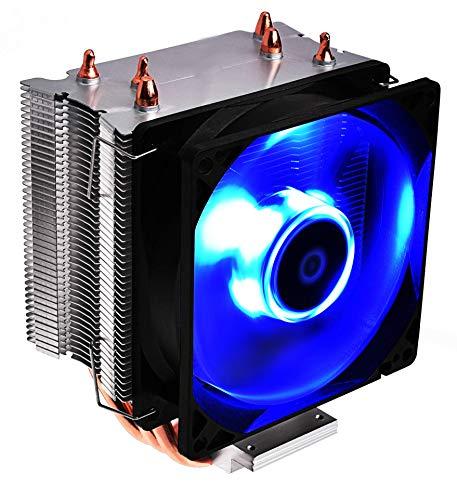 DeepGaming Twister III - Cooler CPU con 3 HeatPipes 6mm, Ventilador de 92mm, Compatible con AMD e Intel, 23.8dB(A), 2200RPM, iluminación LED Azul
