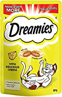 All it takes is a shake - Shake the pack and see your cat come running for the irresistible taste and texture of Dreamies Cat Treats, a reward to bring out the best side of your furry best friend Enhance all the playful moments you share with your fe...