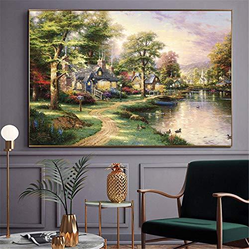 Pinturas surrealistas de Salvador Dali Famosos carteles abstractos e impresiones en lienzo Cuadros artísticos de pared para la decoración de la sala de estar 40 x 75 cm (16'x 29') sin marco
