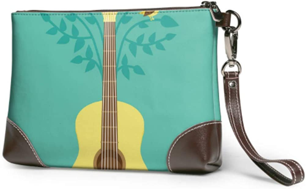 Wristlet Handbag Courier shipping San Jose Mall free Music Poster Flat Retro Leather Style