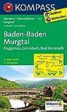 Baden-Baden - Murgtal - Gaggenau - Gernsbach - Bad Herrenalb: Wanderkarte mit Aktiv Guide, Radwegen und Loipen. GPS-genau.1:25000: Wandelkaart 1:25 000 (KOMPASS-Wanderkarten, Band 872) - KOMPASS-Karten GmbH