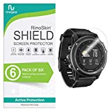 (6-Pack) RinoGear Screen Protector for Garmin Fenix 3 HR Case Friendly Garmin Fenix 3 HR Screen Protector Accessory Full Coverage Clear Film