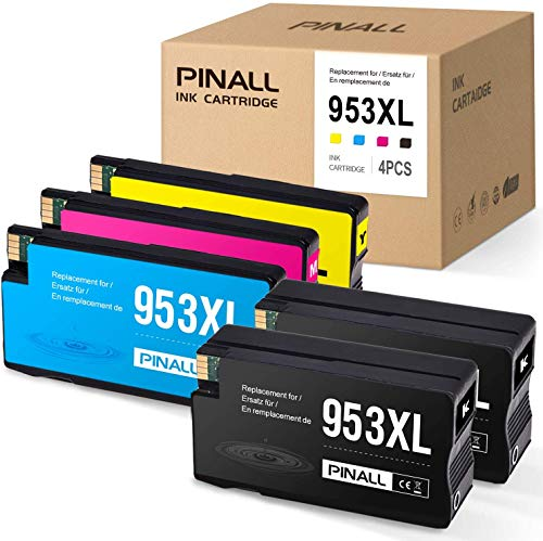 PINALL 5 cartuchos de tinta compatibles con HP 953XL para HP OfficeJet Pro 7740 7730 7720 WF 8200 Series 8210 8216 8218 8710 8715 8718 8719 8720 8725 873 0 874 0 impresoras.
