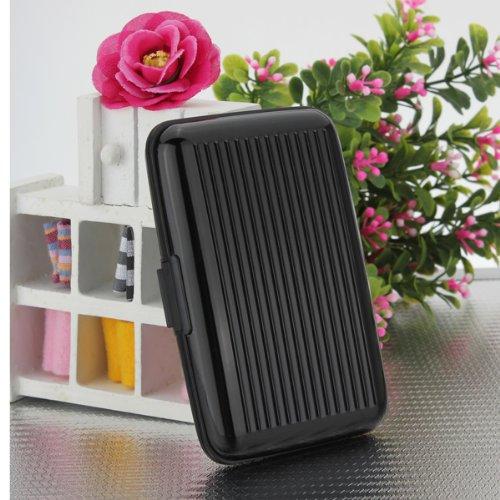Alu wasserdichte Kreditkarten Visitenkarten Etui Case Tasche Box Hülle Kartenbox Aufbewahrungsbox Black