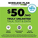 "$50 Monthly Carrier Subscription (toward Simple Mobile ""Truly Unlimited"" Plan) + SIM Card"
